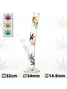 Бонг стеклянный HANGOVER Multi Leaf H:32cm-?:34mm-SG: 14,5mm