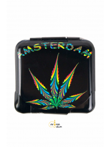 Бокс для хранения бумаги для курения Amsterdam Freedom 5 x 5 см - фото №1 Аромадым