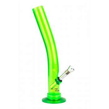 Бонг акриловый MIX Green - H: 26 cm - D:40 cm  - фото №1 Аромадим