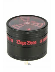 Гриндер металлический DOPE BRONS с окошком на 4 секции - D: 62 mm - фото №1 Аромадим
