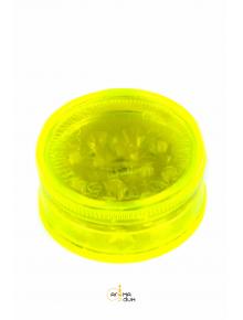 Гриндер акриловый Amsterdam 3part Leaf logo Yellow - фото №1 Аромадим