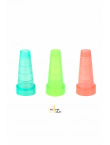 Мундштук одноразовий цветной, конусний, 100 шт - фото №1 Аромадим