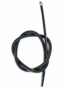 Шланг з мундштуком одноразовий чорний - фото №1 Аромадим