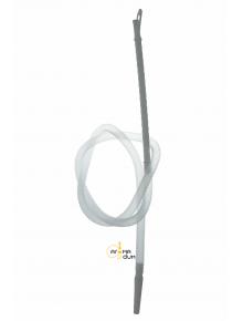 Шланг с мундштуком одноразовый белый - фото №1 Аромадим